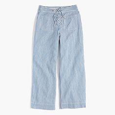 Madewell+-+Lace-Up+Wide-Leg+Crop+Pants+in+Poppy+Stripe