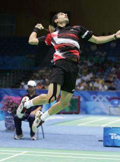 Badminton smash!