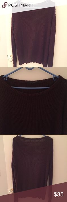 Burgundy BRANDY MELVILLE sweater Gently worn. No stains marks or any flaws. Theres some lent but can be easily cleaned. Burgundy/maroon color. One size loose fit. Brandy Melville Sweaters