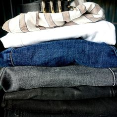 Creating an annual capsule wardrobe — Sunday's Child My Wardrobe, Capsule Wardrobe, Sundays Child, Casual Wear, Casual Outfits, My Jeans, Black Trousers, Workout Wear, Body Shapes