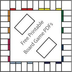 Free Printable Board Game Templates (from http://www.squidoo.com ...