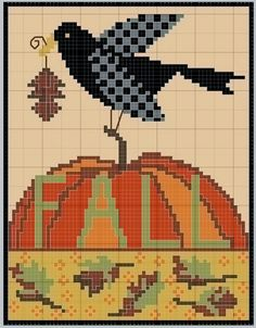 gazette94: HALLOWEEN/ AUTOMNE NICE PUMPKIN - DON'T CARE FOR THE BIRD - THE DRIED LEAVES ARE PRETTY NICE