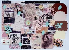 Prima Wild and Free Scrapbook Paper and Embellishment Kit, Romantic embellishment kit, Inspiration kit, Vintage kit, Junk Journal Kit Free Scrapbook Paper, Scrapbook Supplies, Bubble Envelopes, Coordinating Colors, Wild And Free, Journal Cards, Paper Flowers, Embellishments, Paper Crafts