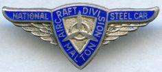 National Steel Car Aircraft Division (Silver) Pin.  Malton, Ontario Division, Bro, Ontario, Class Ring, Safety, Aircraft, Steel, Silver, Cards