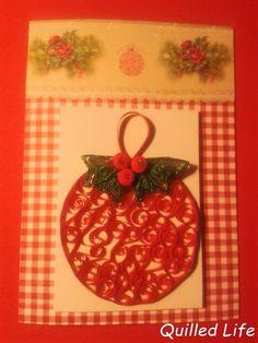 Quilled Life: Choinkowe bombki #quilling #Christmas #Christmascard #Christmasball #handcraft #craft #handmade