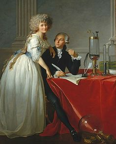 Jacques-Louis David  Portrait of Antoine-Laurent Lavoisier and His Wife, Marie-Anne-Pierrette Paulze, detail