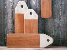 Colorblocked or Dipped Serving Board - Cutting Board with Hanger - Summer Barbeque - Cottage Chic