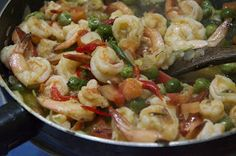 Indonesian Medan Food: Tauco Udang Medan ( Prawn stir fry with fermented soybean)