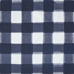 "A classic check re-invented in shades of navy. Colors - Navy Horizontal Repeat - 23"" Vertical Repeat - 22 3/4"" Fabric Width - 59"" Fabric Content - 100% cotton canvas Durable cotton ground fabric suita"
