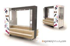 ingeniovirtual.com - Infografía de Stand para punto de venta en centro comercial.