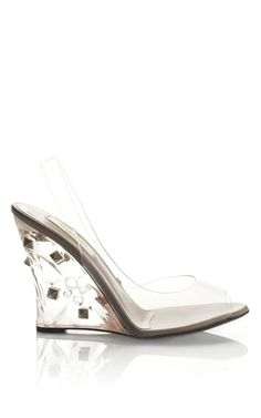 Naked Rockstud Plexi Wedge by Valentino for Preorder on Moda Operandi