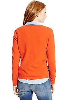 Cashmere Argyle Cardigan (always up for a vibrant orange)