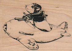 Toy Airplanerubber stamp cling stamp unmounted by pinkflamingo61