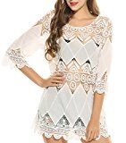 Review for Ekouaer Cover Ups Women\'s Beach Dress Crochet Tunic Cover Up - Milisa Mote - Blog Booster