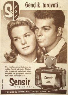 OĞUZ TOPOĞLU : sensir tıraş losyonu 1959 nostaljik eski reklamlar... Old Advertisements, Retro Advertising, Photography Exhibition, Poster Pictures, Old Ads, Historical Pictures, Vintage Posters, Istanbul, Humor