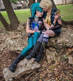 "Punk & by cosplayers & with ""A world without Haruka isn't worth saving."" -Haruka Punk Sailor Neptune: Punk Sailor Uranus: Image: Taken at 2016 Sailor Moon Cosplay, Sailor Moon Outfit, Sailor Moon Girls, Sailor Moon Art, Cute Cosplay, Best Cosplay, Cosplay Girls, Punk Costume, Cosplay Costumes"