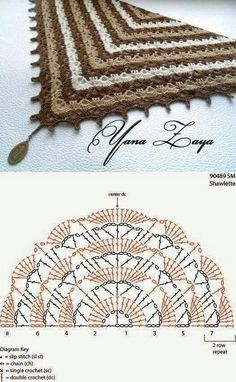 Crochet shawl with chart...