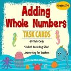 There are sixty (60) task cards in this set created to practice students' skills on how to add whole numbers with and without regrouping. You can u...