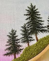 Resultado de imagem para tree embroidery