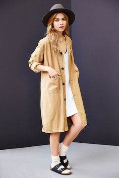 Urban Renewal Vintage Linen Shop Coat