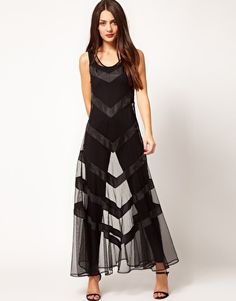 Enlarge Selected Sheer Maxi Dress WIth Catsuit