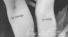 21 Tattoos for couples who want to spend their entire lives together - Tatoo - Tatuajes Bff Tattoos, Mini Tattoos, Couple Tattoos, Trendy Tattoos, Love Tattoos, Tattoo You, Unique Tattoos, Body Art Tattoos, Small Tattoos