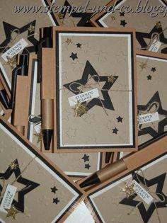 #Notizbuch #Weihnachten #gold #schwarz #glitzer #ZauberDerWeihnacht #Cards #Weihnachtskarten