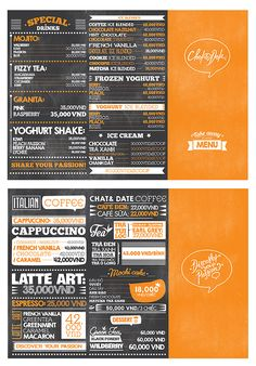 Typography Decoration for Chat&Date by Hieu Trieu, via Behance. Chocolate Tiramisu, Chocolate Hazelnut, Mint Chocolate, Small Store Design, Blended Drinks, Frozen Yoghurt, Dating Chat, French Vanilla, Mojito