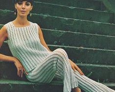 Vintage Trouser Suit Crochet Pattern by Villawool This gorgeous suit comprises crocheted trousers and a sleeveless top. Suit Pattern, Retro Pattern, Pants Pattern, Top Pattern, Wedding Dress Patterns, Dress Sewing Patterns, Baby Knitting Patterns, Crochet Ideas, Models