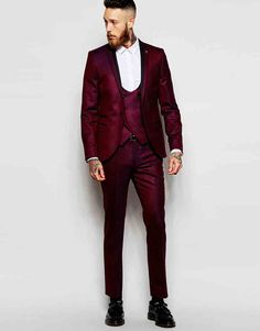 Image 1 of Noose & Monkey Tuxedo Suit With Stretch in Skinny Fit