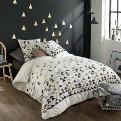 Parure de lit imprimée triangle Linge de lit - Kiabi - 23,00€