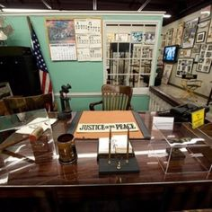 Taking a tour of Mayberry. This is where Andy & Barney worked.
