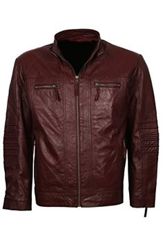 Bestzo Mens Fashion Guardian of Galaxy Vol 2 Real Leather Coat Brown