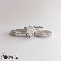WOW Check out this amazing set we custom created for Brent & Kelly! Love the shaped Jewelry Shop, Custom Jewelry, Fashion Jewelry, Jewelry Making, Wedding Set, Wedding Rings, Pear Diamond Rings, Pear Shaped, Sparkles