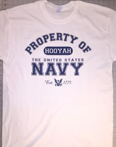 Property of Navy shirt we did to satisfy a customer's order.