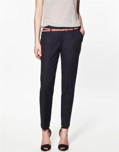 Primavera verão e outono excelente qualidade elegantes calças moda feminina lápis mulheres calças com cinto em Calças de Roupas & acessórios no AliExpress.com | Alibaba Group