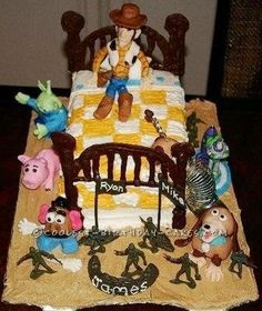 Coolest Toy Story Cake Ever... This website is the Pinterest of homemade birthday cakes