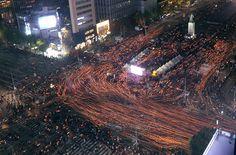 '박근혜 하야'···광화문 밝힌 촛불 - 세상을 보는 눈, 글로벌 미디어 - 세계일보 -