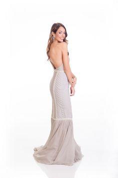Dilan Deniz Miss Turkey evening dress for Miss Universe 2015.