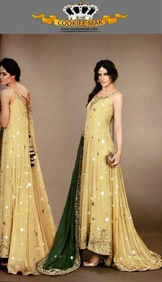 LatestMehvish Khan Latest Bridal Wear Collection 2012 for Women Fashion by Pakistan Fashion Magazine Walima Dress, Mehndi Dress, Anarkali Dress, Mehndi Outfit, Long Anarkali, Anarkali Suits, Fashion Designer, Indian Designer Wear, Designer Dresses
