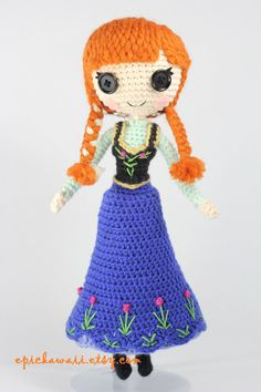 PATTERN Princess Anna from Frozen Crochet Amigurumi by epickawaii