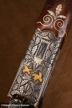 Merkel 1963 Shotgun. Ivory and mother of pearl inlay.