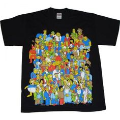 Image result for simpsons t shirt