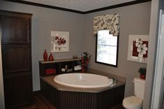 Mobile home makeover living room this is most for Mobile home master bathroom remodel