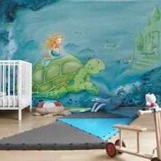Carta da parati neonato | Camerette colorate fai da te - 6 Disney Marvel, Matilda, Germany, Berlin, Painting, Products, Sad, Pictures, Painting Art