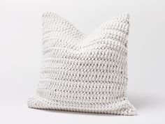 Woven Rope White Throw Pillow by Coyuchi. Textured pillow with a chunky Leno weave on the front and a solid colored heavy linen back. White Throw Pillows, White Pillows, Diy Pillows, Cushions, Decorative Pillow Covers, Decorative Throw Pillows, Living Room Decor Pillows, Living Rooms, Pillow Texture