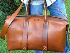 The Classic Duffel Leather Handmade Bag by 40thparallel