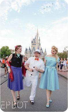 Disneybounding Anna, Olaf, & Elsa at WDW's Dapper Day
