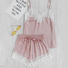 4e7ff471f 2pcs Women Sexy Sleepwear Set Satin Silk Babydoll Lace Sleep Tops+Shorts  New Summer Backless Clothing