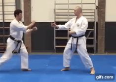 Defence against long-range kick - Wado-ryu karate